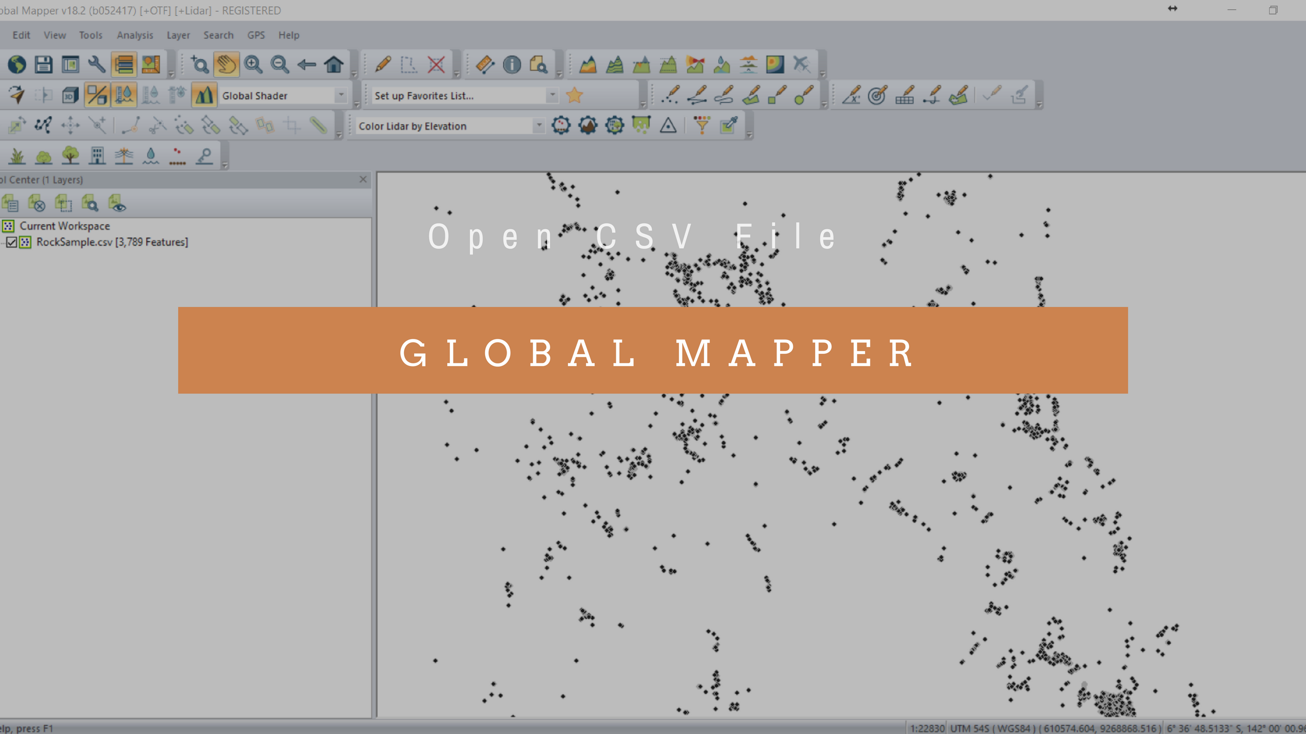 Global Mapper Tutorial - How to open CSV File on Global