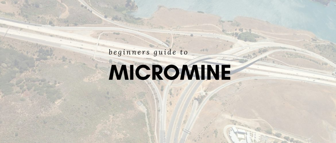 micromine tutorial