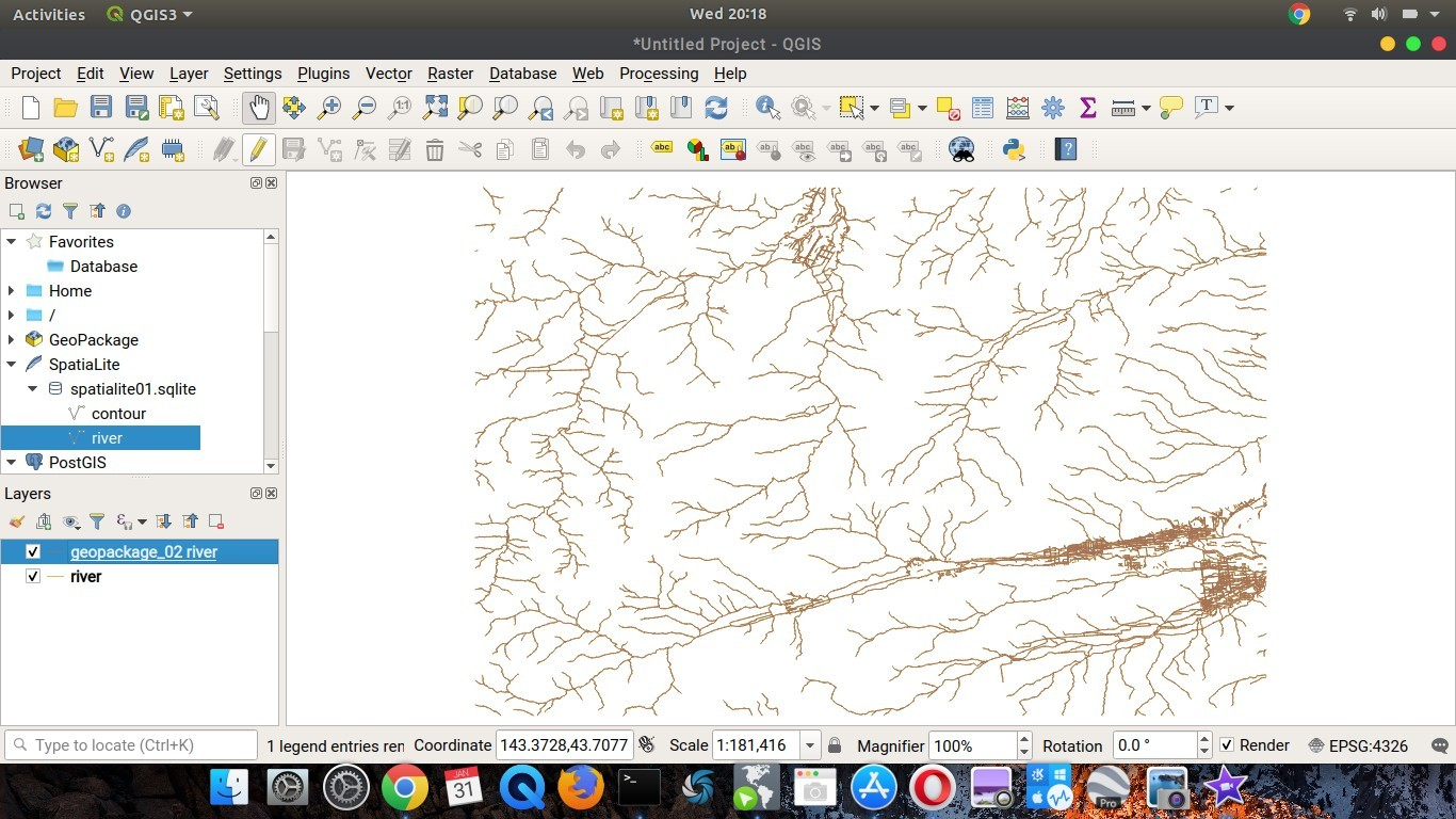 create a geopackage layer on QGIS