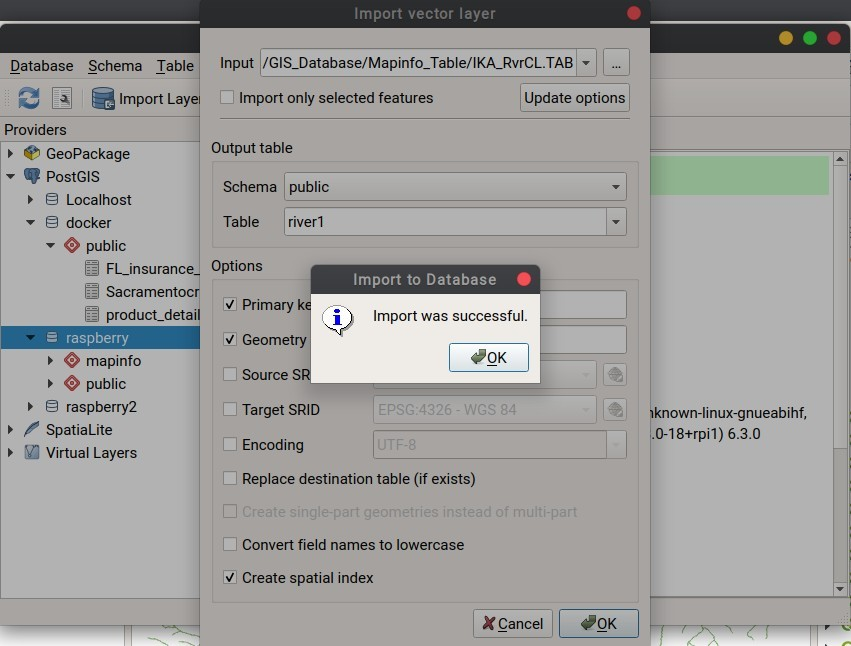 How to Import Vector Layer to PostGIS on QGIS via DB Manager