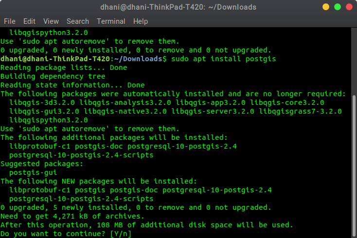 How to Install PostGIS on Ubuntu 18 04   GIS Tutorial