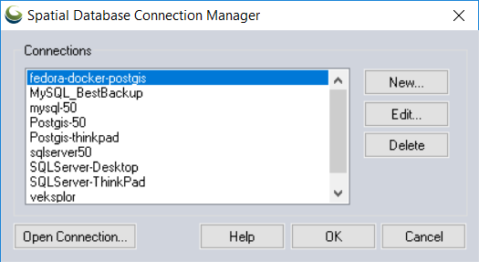 How to Create a New Spatial Database Connection on Global Mapper