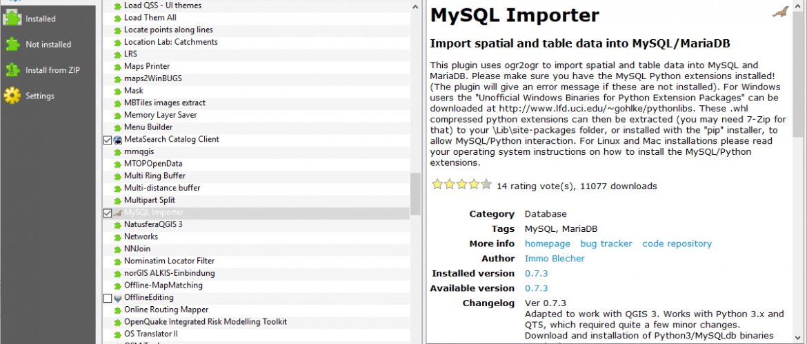 How to Install and Enable MySQL Importer Plugin on QGIS 3 4