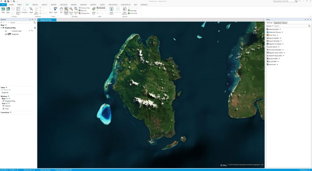 How to Open Bing Aerial Image on MapInfo Professional | GIS Tutorial