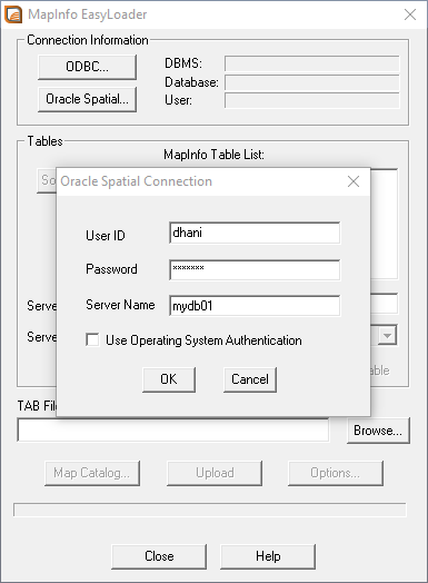 MAPINFO ORACLE SPATIAL DRIVER PC