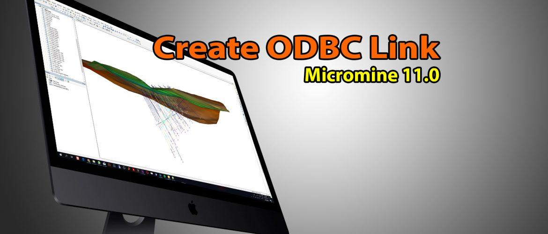 Create odbc link micromine thumbnail