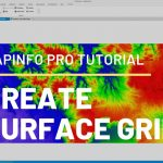 How to Create Triangulation Surface Grid from Contour Layer in Mapinfo Pro