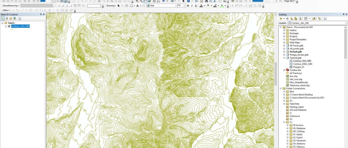 shapefile-on-arcmap